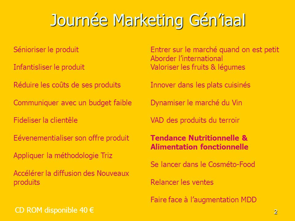 Journée Marketing Gén'iaal
