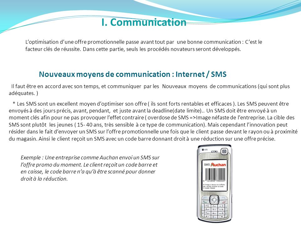 I. Communication
