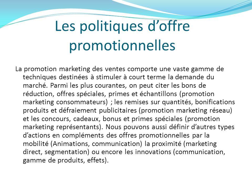 Les politiques d'offre promotionnelles