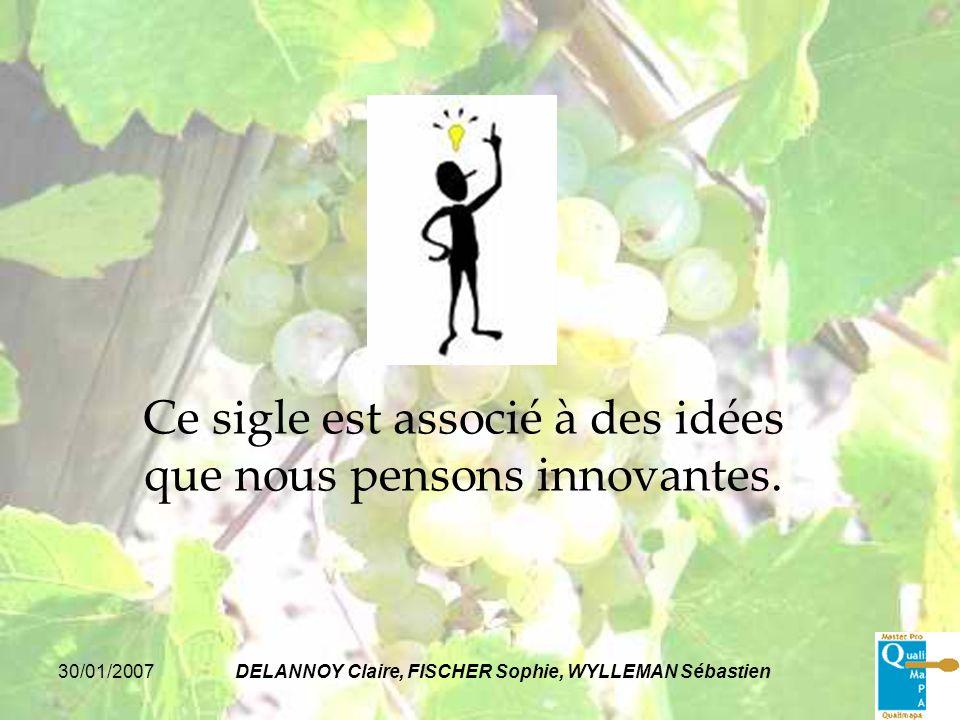Ce sigle est associé à des idées que nous pensons innovantes.