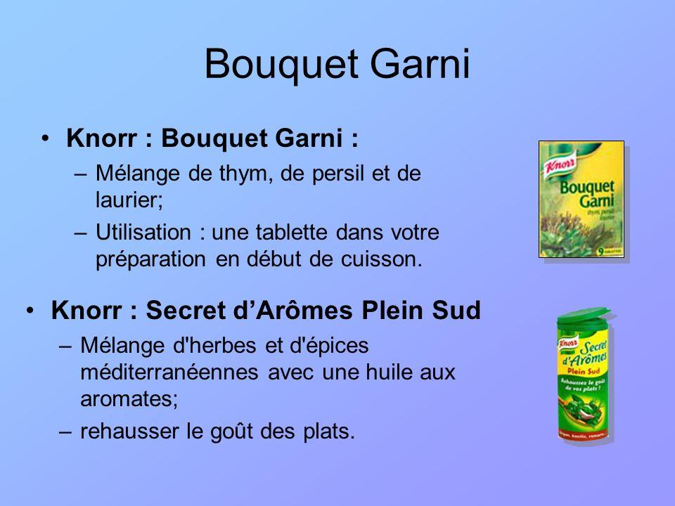 Bouquet Garni Knorr : Bouquet Garni :