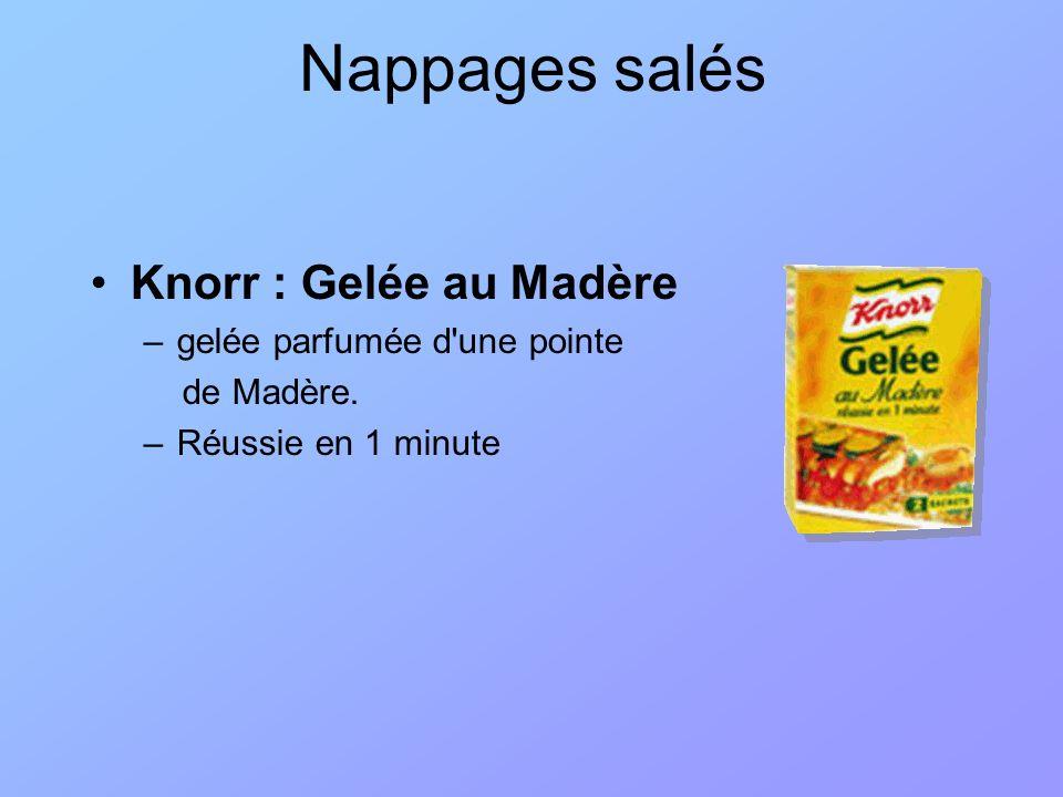 Nappages salés Knorr : Gelée au Madère gelée parfumée d une pointe