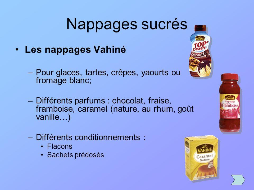 Nappages sucrés Les nappages Vahiné