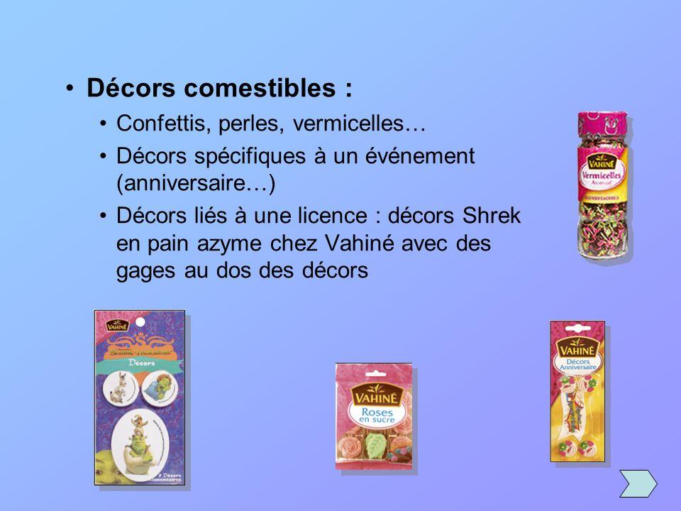 Décors comestibles : Confettis, perles, vermicelles…
