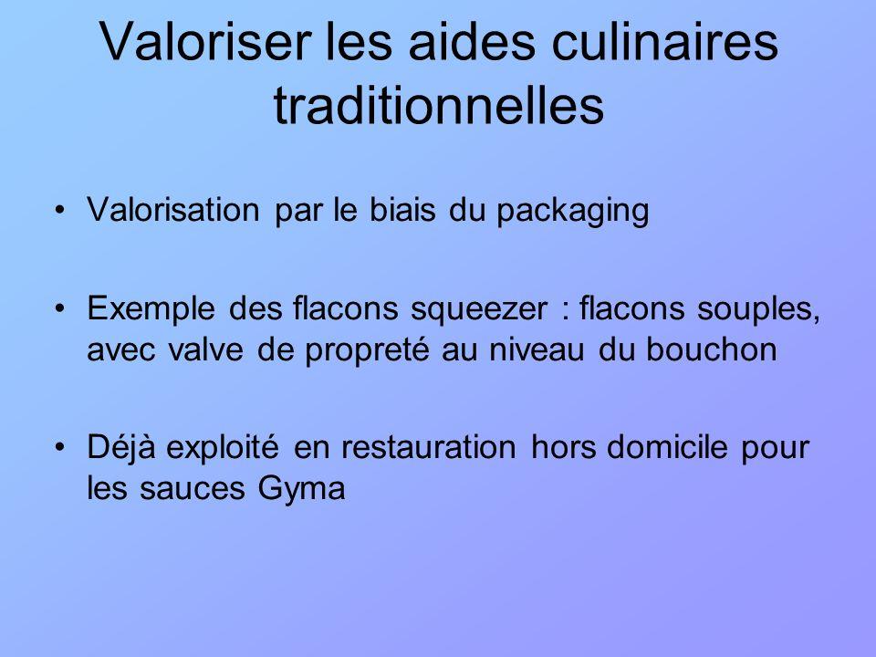 Valoriser les aides culinaires traditionnelles