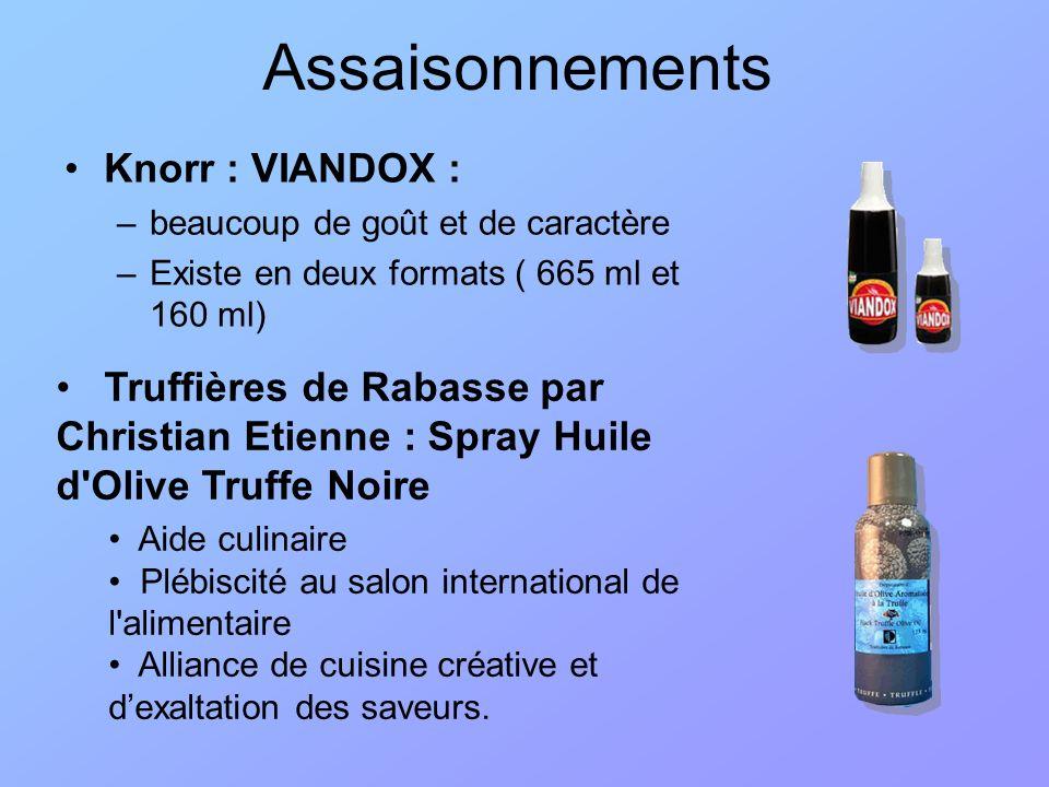 Assaisonnements Knorr : VIANDOX :