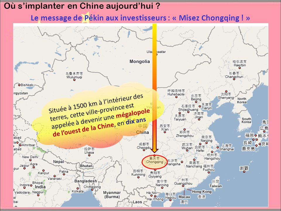 Le message de Pékin aux investisseurs : « Misez Chongqing ! »