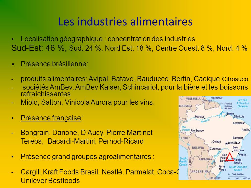 Les industries alimentaires