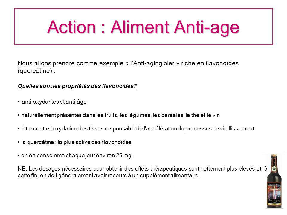 Action : Aliment Anti-age