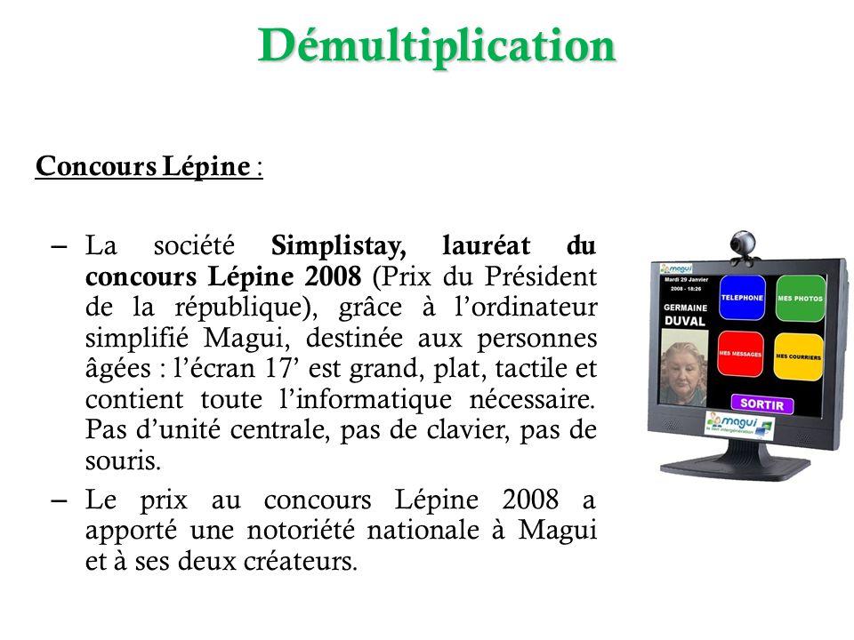 Démultiplication Concours Lépine :