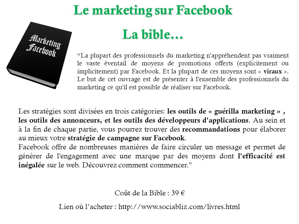 Le marketing sur Facebook