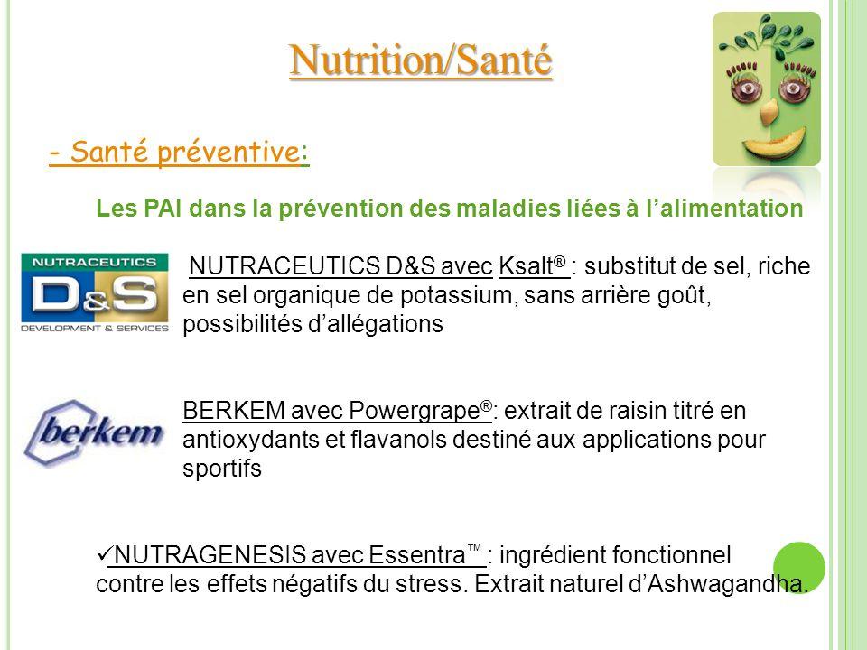 Nutrition/Santé - Santé préventive: