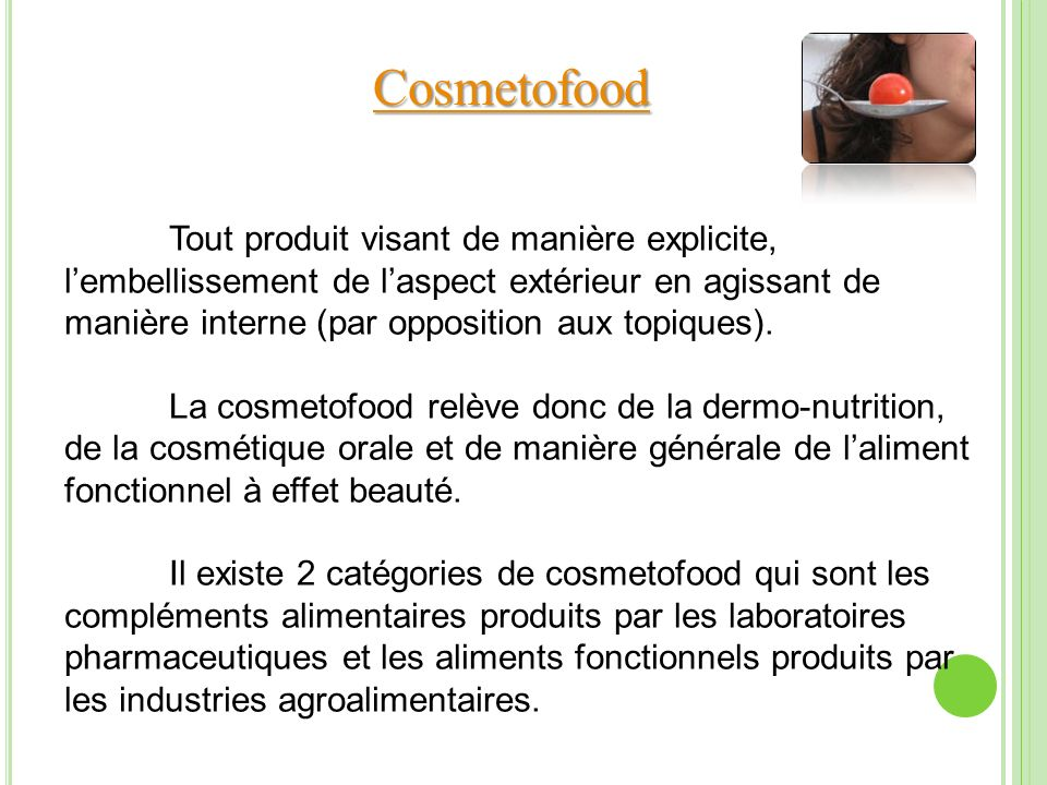 Cosmetofood