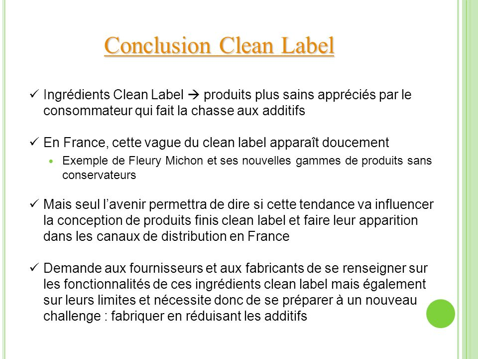 Conclusion Clean Label