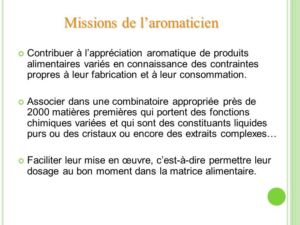 Missions de l'aromaticien