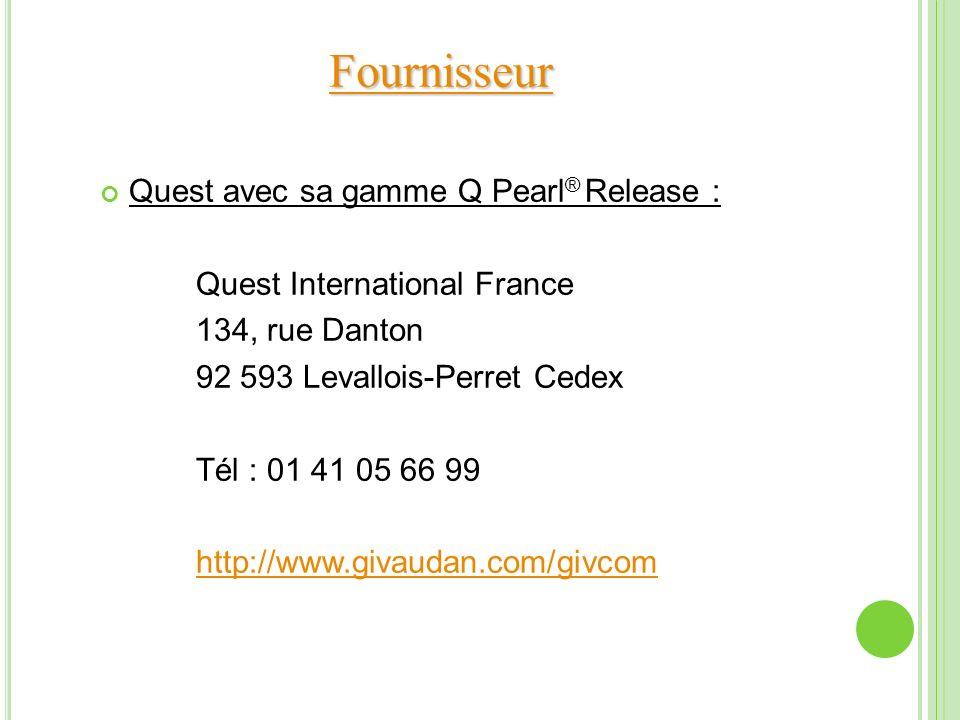 Fournisseur Quest avec sa gamme Q Pearl® Release :