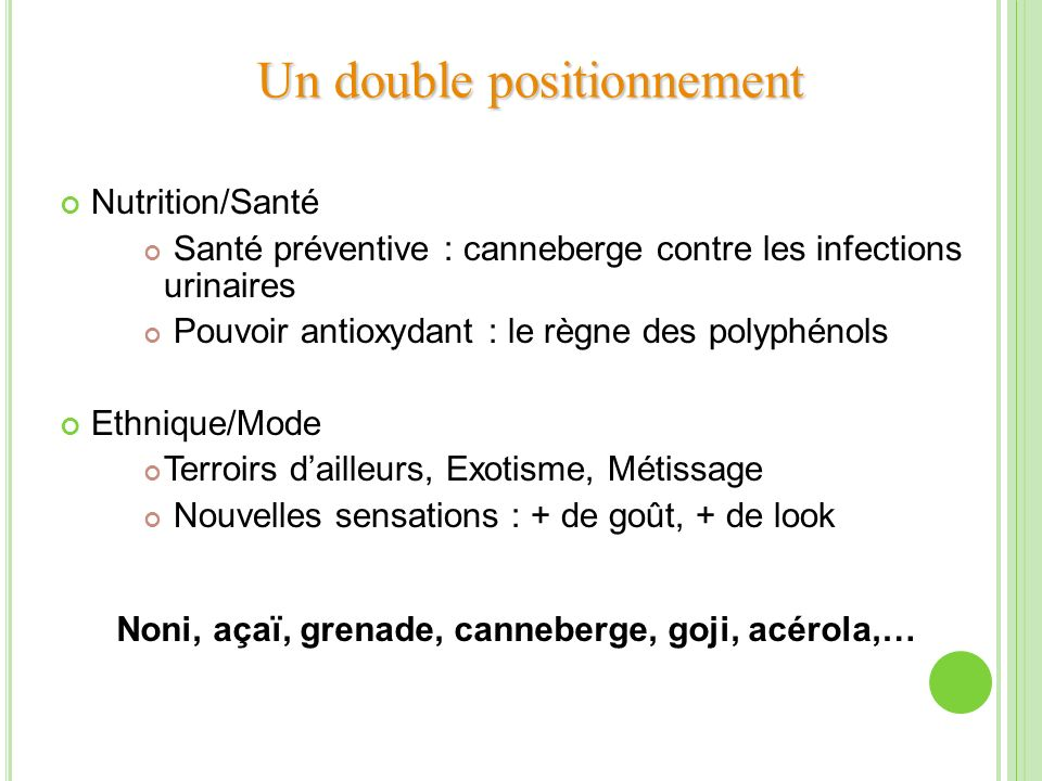 Un double positionnement