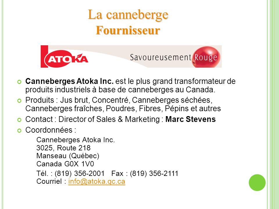 La canneberge Fournisseur