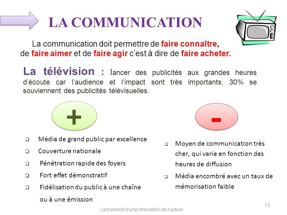 LA COMMUNICATIONLa communication doit permettre de faire connaître, de faire aimer et de faire agir c'est à dire de faire acheter.