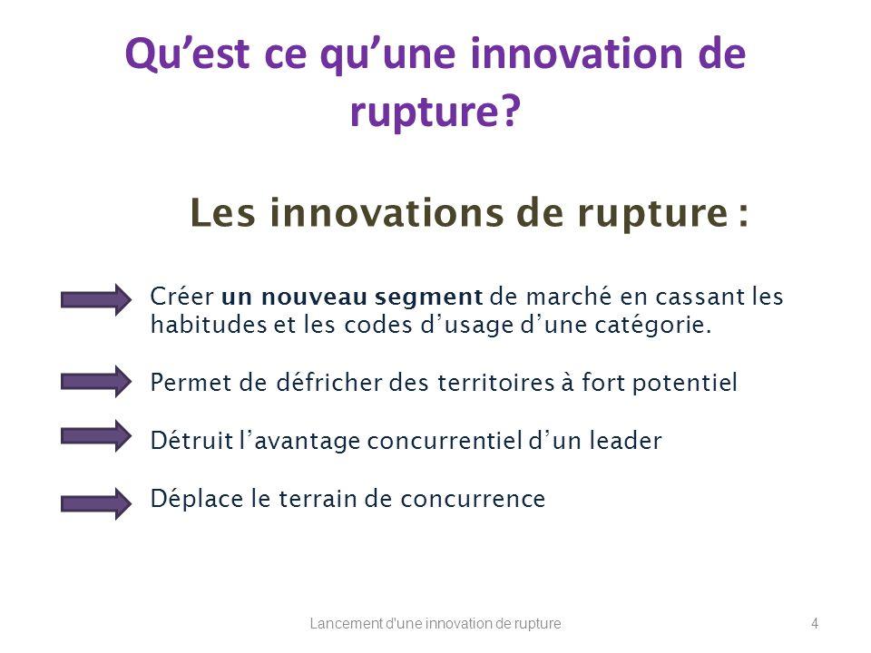 Qu'est ce qu'une innovation de rupture
