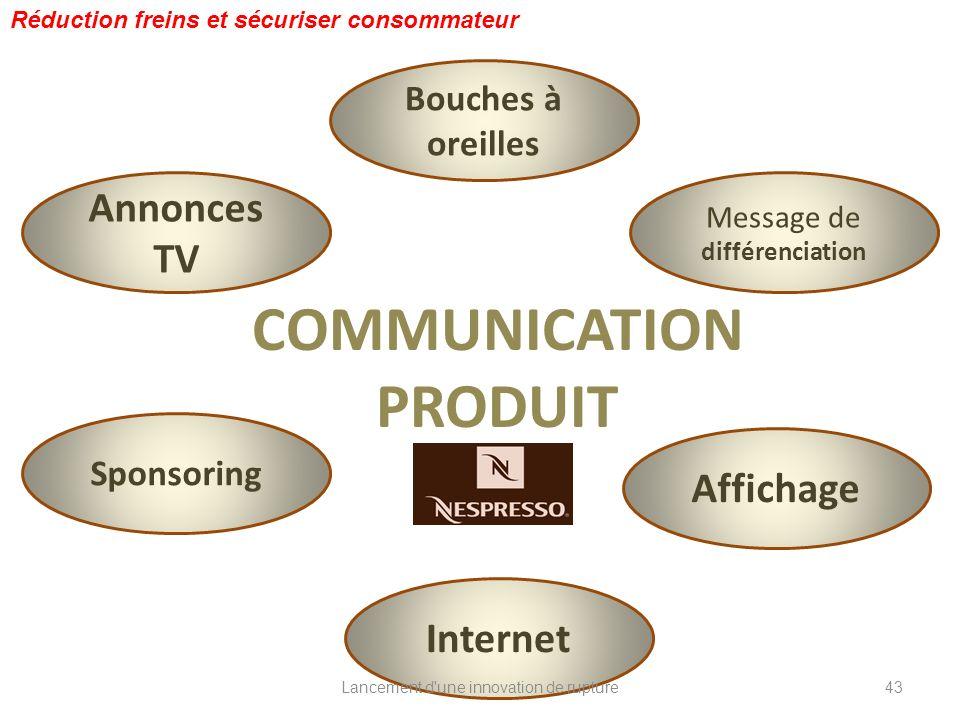 COMMUNICATION PRODUIT