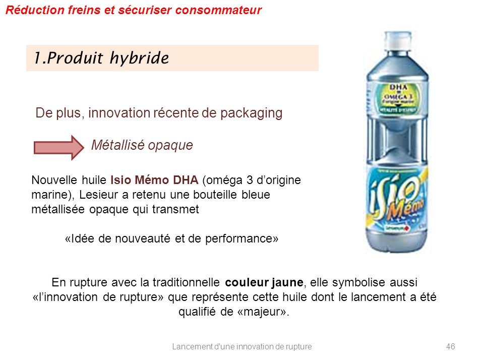 1.Produit hybride De plus, innovation récente de packaging
