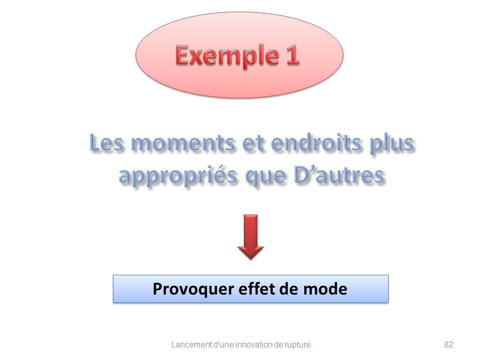 Exemple 1 Les moments et endroits plus appropriés que D'autres