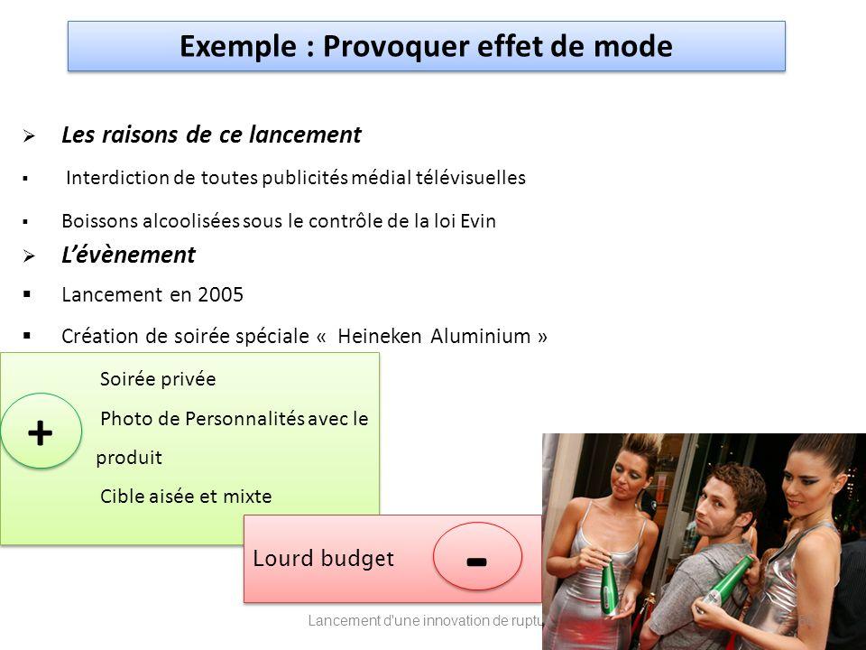 Exemple : Provoquer effet de mode