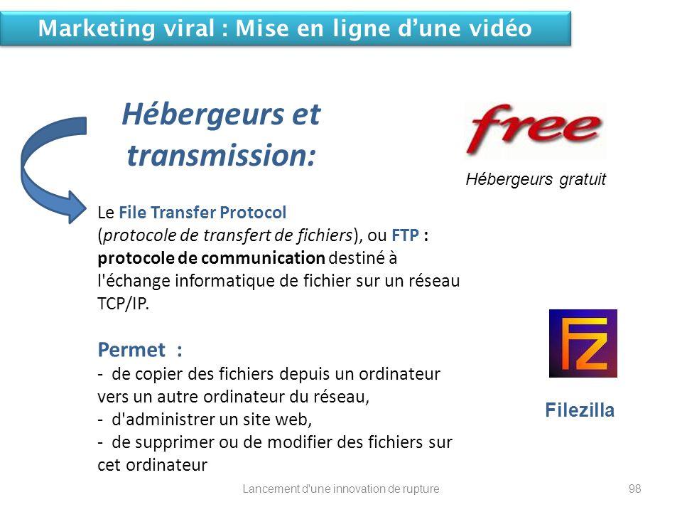 Hébergeurs et transmission: