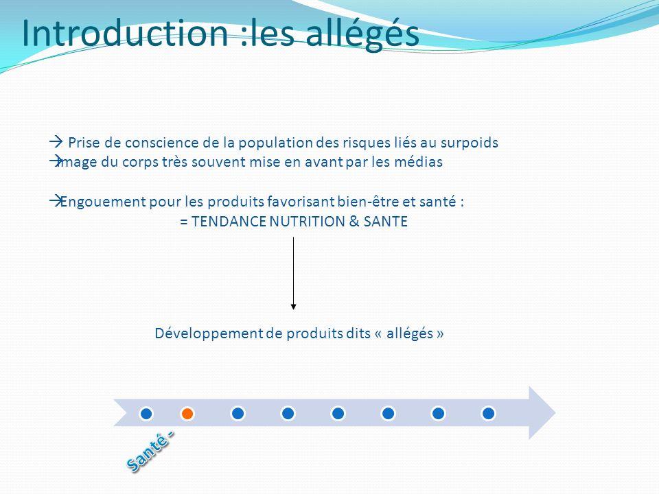 Introduction :les allégés