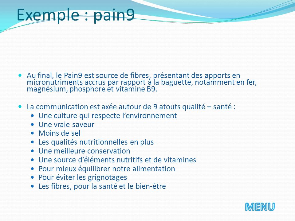 Exemple : pain9