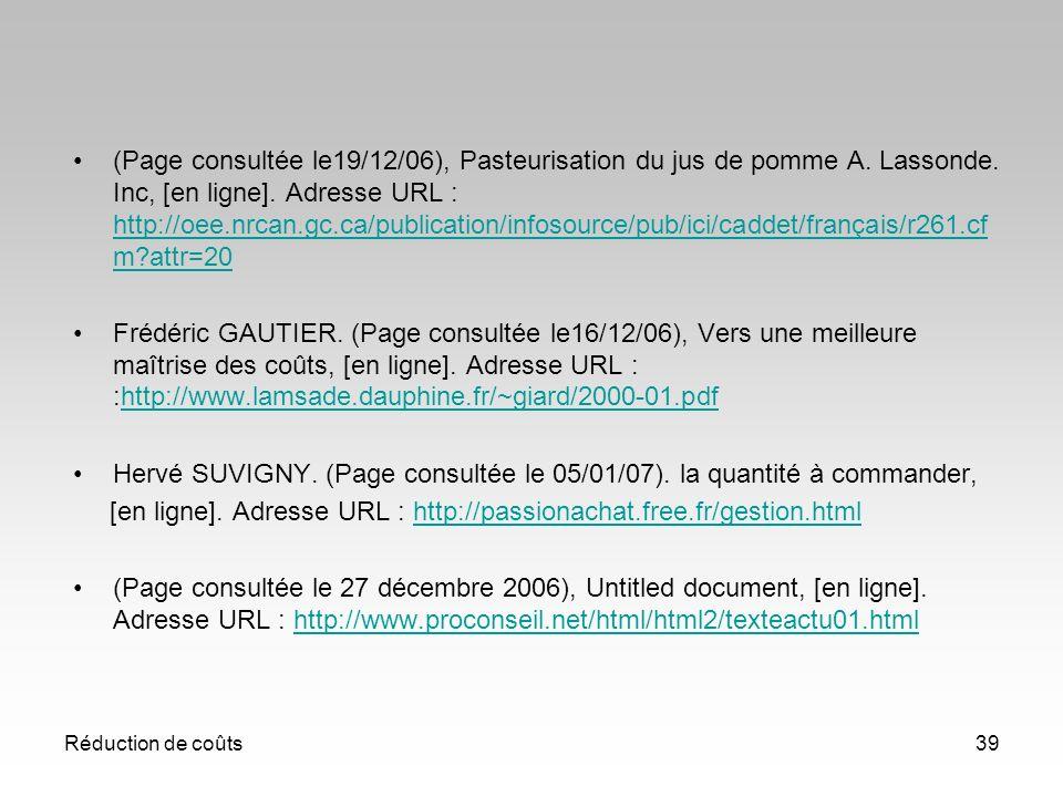 Hervé SUVIGNY. (Page consultée le 05/01/07). la quantité à commander,