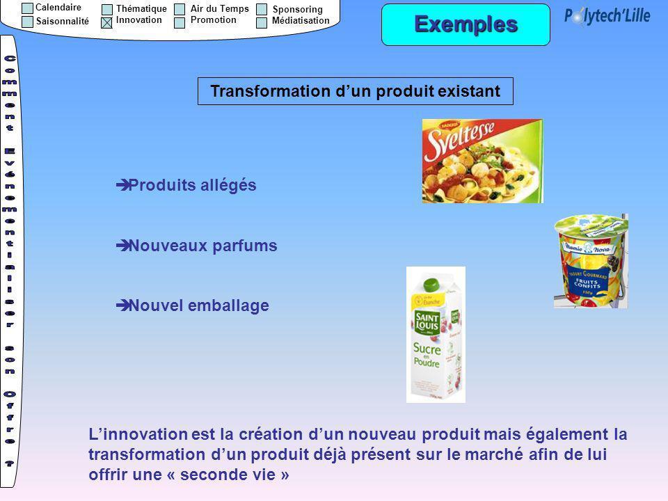 Transformation d'un produit existant