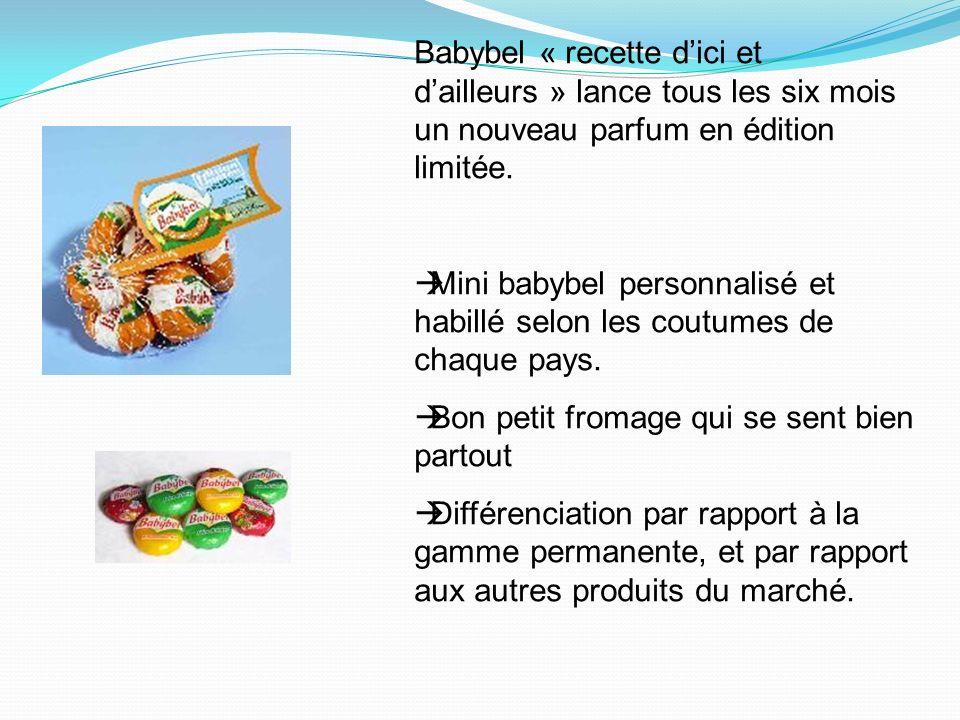 Babybel « recette d'ici et d'ailleurs » lance tous les six mois un nouveau parfum en édition limitée.