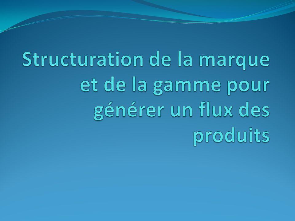 Structuration de la marque et de la gamme pour générer un flux des produits