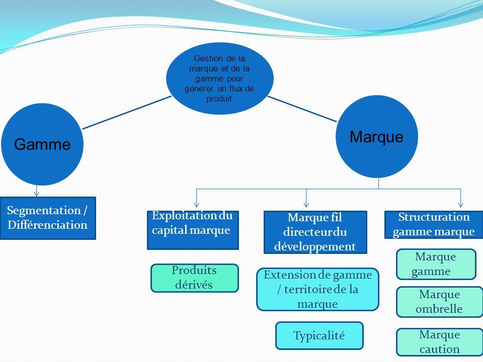 Segmentation / Différenciation Exploitation du capital marque