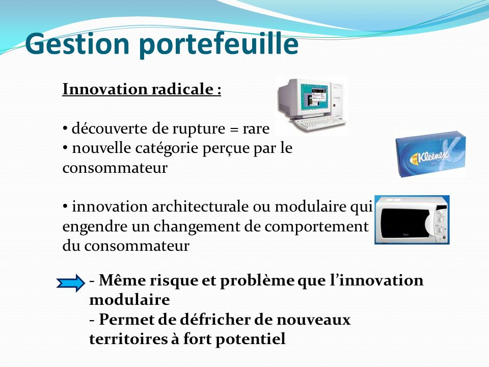 Gestion portefeuille Innovation radicale :