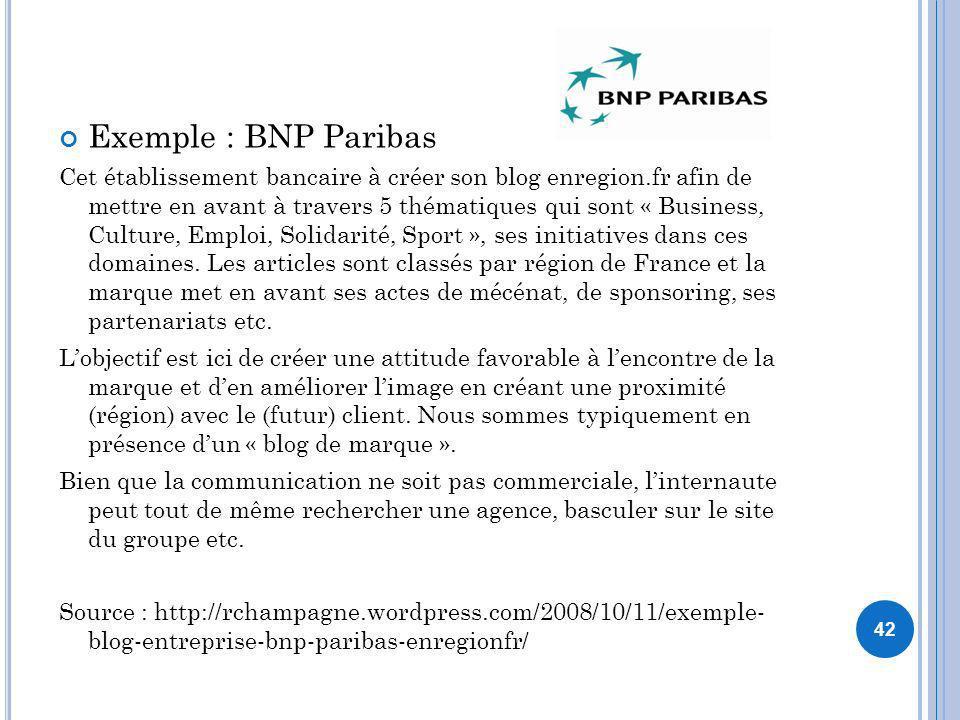 Exemple : BNP Paribas