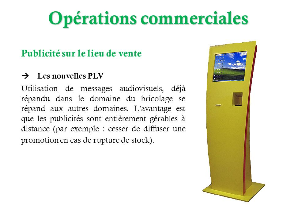 Opérations commerciales