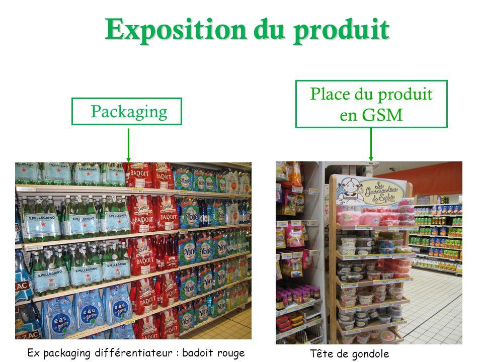Exposition du produit Place du produit en GSM Packaging