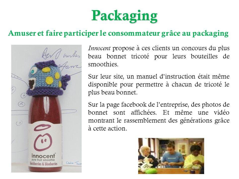 Packaging Amuser et faire participer le consommateur grâce au packaging.