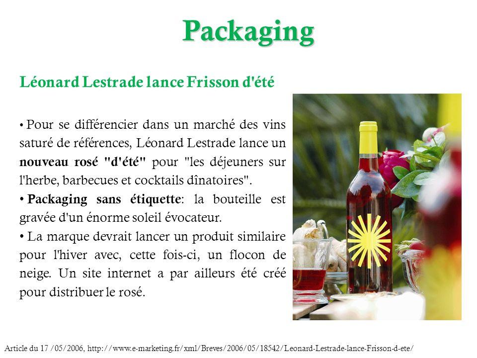 Packaging Léonard Lestrade lance Frisson d été