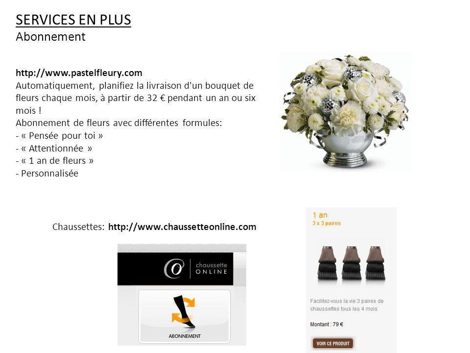 Services en plus Abonnement http://www.pastelfleury.com