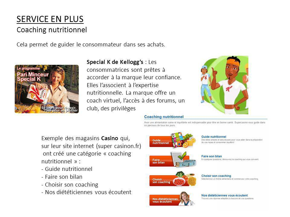 Service en plus Coaching nutritionnel