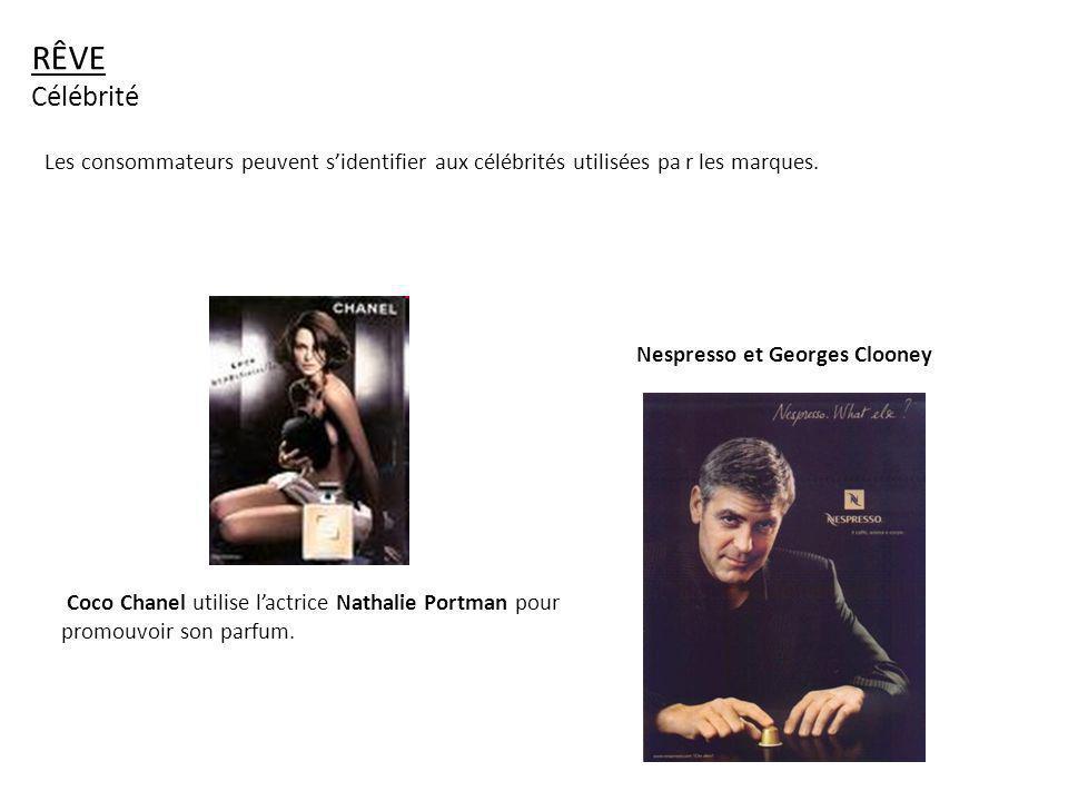 RÊVE Célébrité. Les consommateurs peuvent s'identifier aux célébrités utilisées pa r les marques.