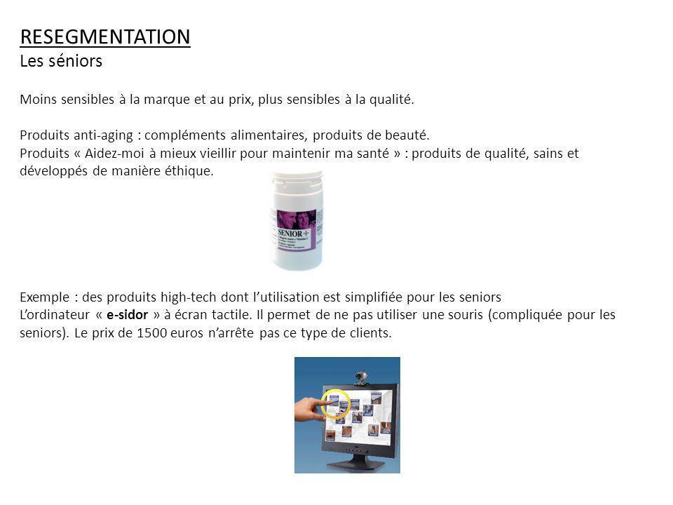 RESEGMENTATION Les séniors
