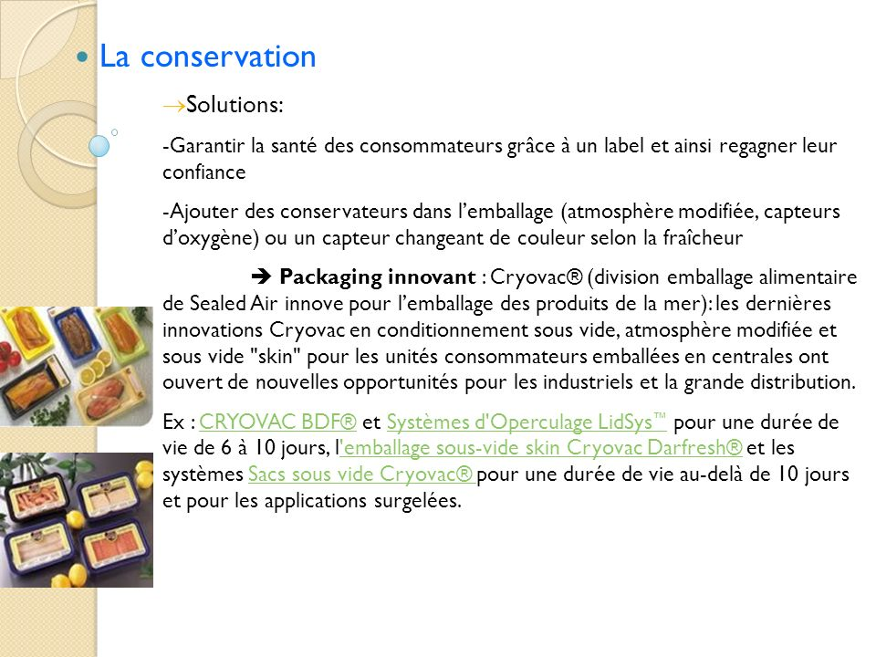 La conservation Solutions: