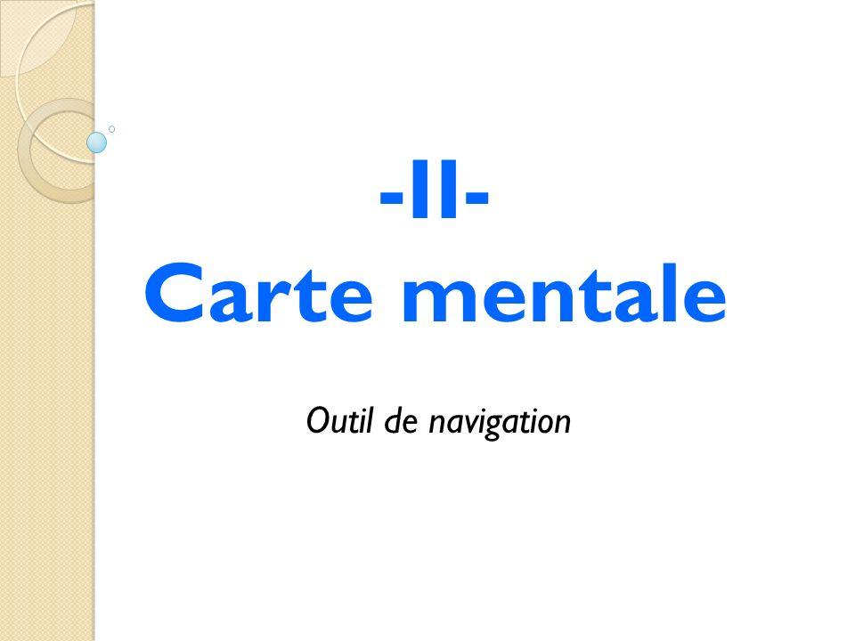 -II- Carte mentale Outil de navigation