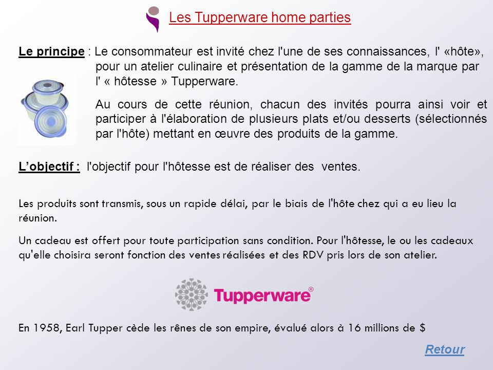 Les Tupperware home parties