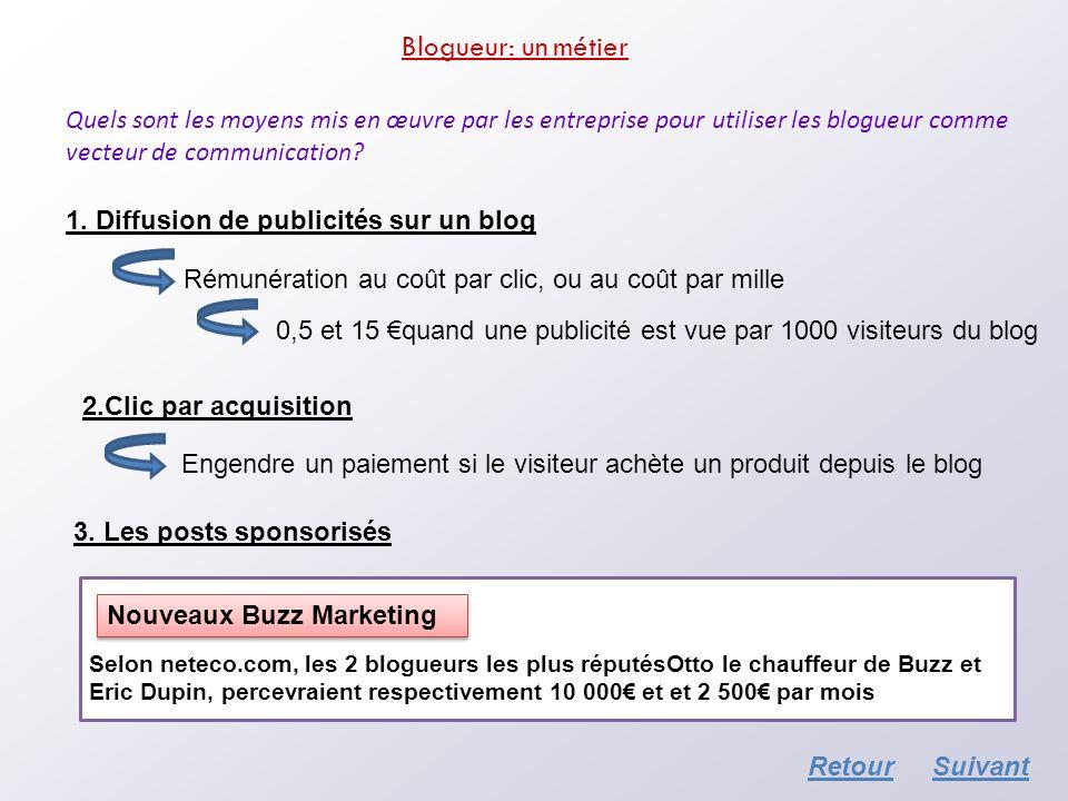 Blogueur: un métier Quels sont les moyens mis en œuvre par les entreprise pour utiliser les blogueur comme vecteur de communication